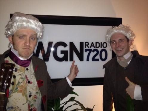 Thomas Jefferson and John Adams in the WGN Radio Studio